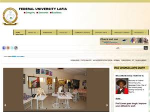 Federal University, Lafia's Website Screenshot