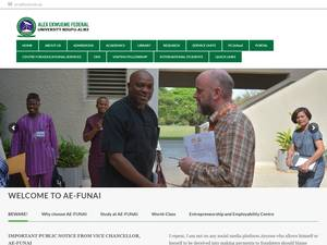 Alex Ekwueme Federal University, Ndufu-Alike's Website Screenshot