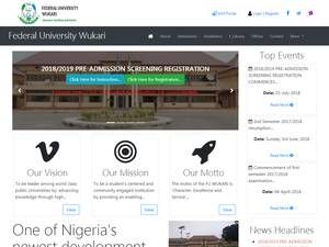 Federal University, Wukari Screenshot