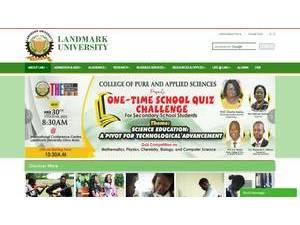 Landmark University's Website Screenshot