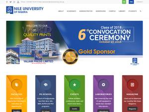 Nile University of Nigeria's Website Screenshot
