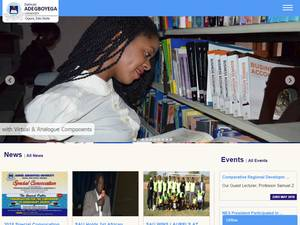 Samuel Adegboyega University's Website Screenshot