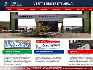 Veritas University's Website Screenshot