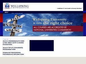 Wellspring University's Website Screenshot