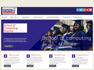Dominion University College's Website Screenshot
