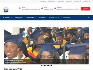 West End University College's Website Screenshot