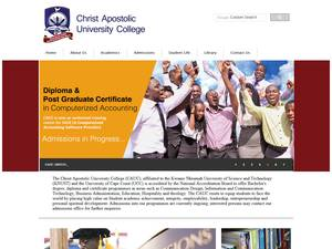Christ Apostolic University College's Website Screenshot
