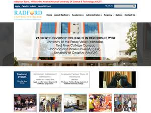 Radford University College's Website Screenshot