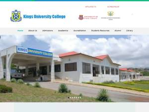 Kings University College's Website Screenshot