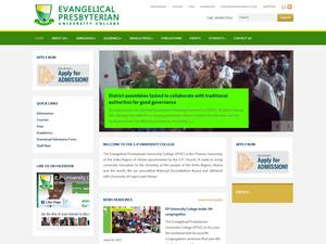 Evangelical Presbyterian University College's Website Screenshot
