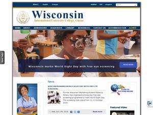Wisconsin International University College's Website Screenshot