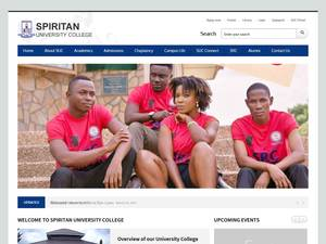 Spiritan University College's Website Screenshot