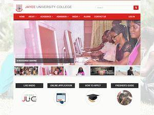 Jayee University College's Website Screenshot