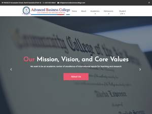 Advanced Business College's Website Screenshot