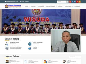 Universitas Dharmawangsa's Website Screenshot