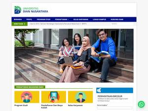 Universitas Dian Nusantara's Website Screenshot