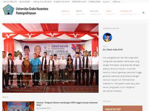Graha Nusantara University Padangsidimpuan's Website Screenshot