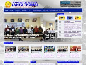 Universitas Katolik Santo Thomas Screenshot
