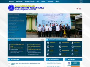 Universitas Medan Area's Website Screenshot