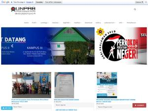 Universitas Pembangunan Panca Budi's Website Screenshot