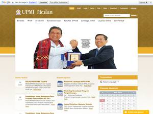 Universitas Pembinaan Masyarakat Indonesia's Website Screenshot