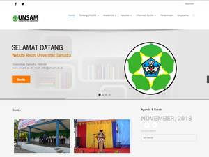 Universitas Samudra Langsa's Website Screenshot