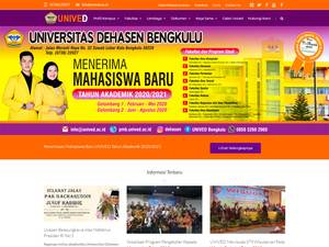 Dehasen University of Bengkulu Screenshot