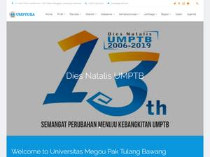 Universitas Megou Pak Tulang Bawang's Website Screenshot