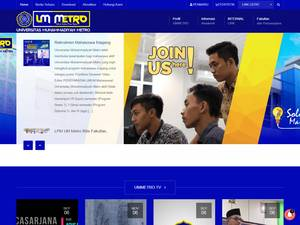 Universitas Muhammadiyah Metro's Website Screenshot