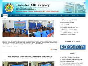 Universitas PGRI Palembang's Website Screenshot