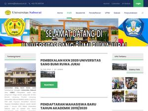 Universitas Sang Bumi Ruwa Jurai's Website Screenshot