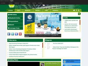 Universitas Tamansiswa Palembang's Website Screenshot