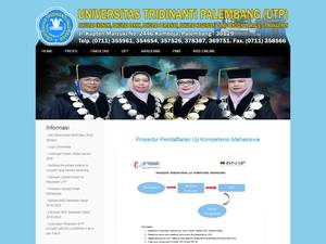 Universitas Tridinanti Palembang Screenshot