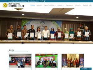Universitas Borobudur's Website Screenshot