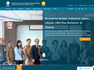 Universitas Multimedia Nusantara's Website Screenshot