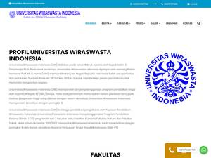 Universitas Wiraswasta Indonesia's Website Screenshot