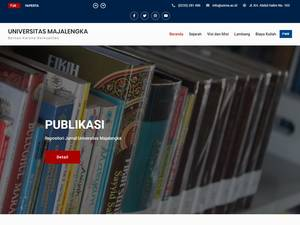 Universitas Majalengka's Website Screenshot