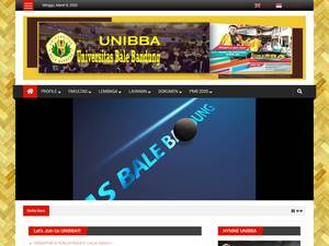 Universitas Bale Bandung's Website Screenshot