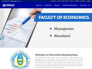 Universitas Bandung Raya's Website Screenshot