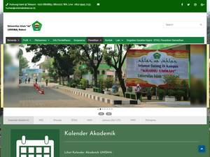 Universitas Islam 45 Bekasi's Website Screenshot