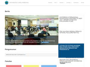 Universitas Langlangbuana's Website Screenshot