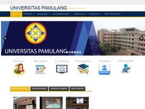 Universitas Pamulang's Website Screenshot
