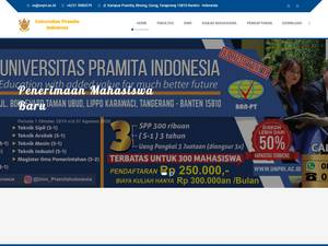 Universitas Pramita Indonesia Screenshot