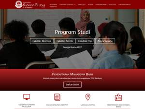 Universitas Sangga Buana's Website Screenshot