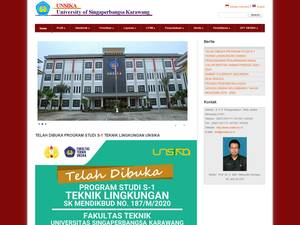 Universitas Singaperbangsa Karawang Screenshot