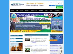 Universitas Mercu Buana Yogyakarta's Website Screenshot