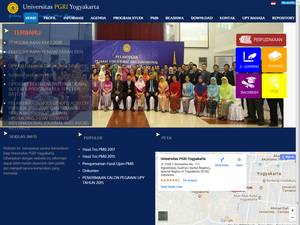 Universitas PGRI Yogyakarta's Website Screenshot