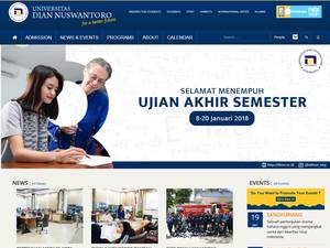 Universitas Dian Nuswantoro Screenshot
