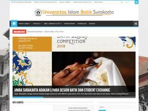 Universitas Islam Batik's Website Screenshot