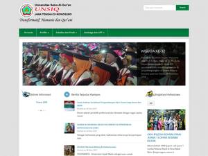 Universitas Sains Alqur'an's Website Screenshot
